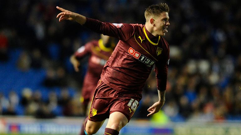 Sean Murray: Celebrates putting Watford ahead in the first half
