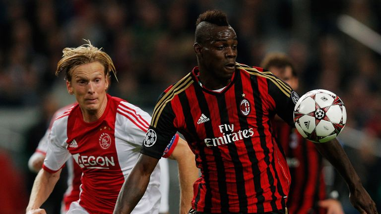 Mario Balotelli: Late penalty denied Ajax at the Amsterdam ArenA