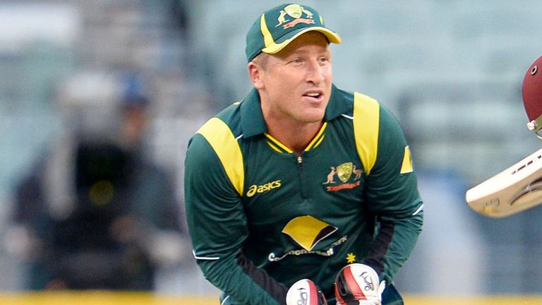 Australia's wicketkeeper Brad Haddin left the field in Pune after being poked in the eye by a teammate