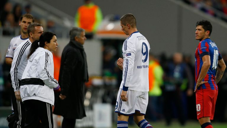 Fernando Torres: Replaced early on as Chelsea won 4-0 in Romania