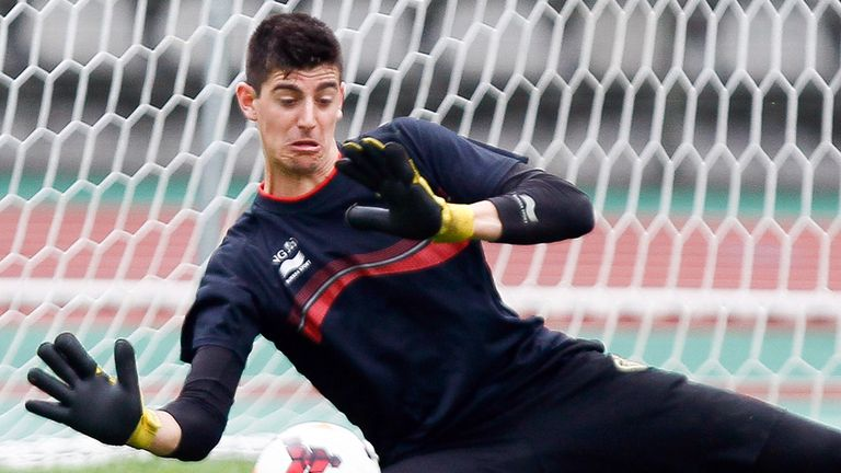 Thibaut Courtois: Happy with Atletico