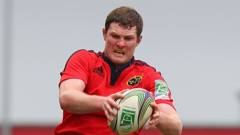 Donnacha Ryan: The Ireland cap starts at second-row for Munster