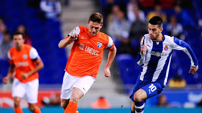 Pizzi (r) scored the winner for Espanyol
