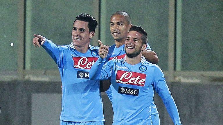 Napoli celebrate against Fiorentina