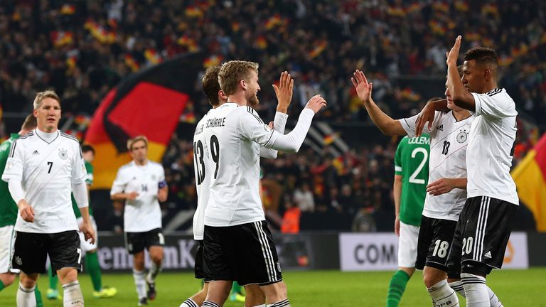 Andre Schurrle bagged a hat-trick as Germany defeated Sweden 5-3