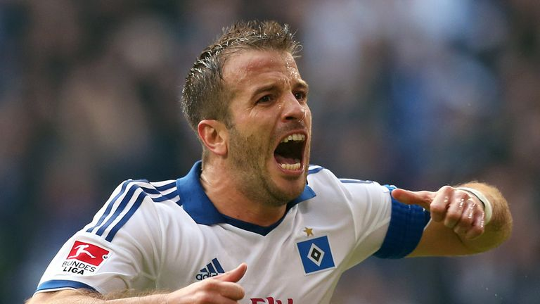 Rafael van der Vaart: Holland international happy with Hamburg