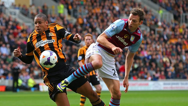 Curtis Davies: Battles for possession with Libor Kozak