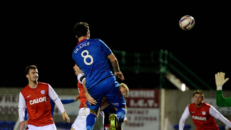Inverness made the semi-finals of the League Cup thanks to Ross Draper's late header
