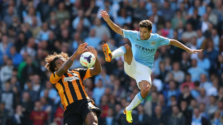 Manchester City winger Jesus Navas is happy in the Premier League
