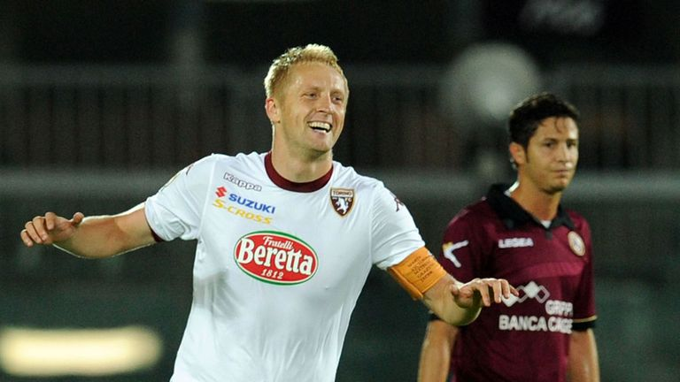 Kamil Glik celebrates for Torino