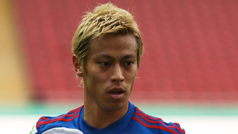 Keisuke Honda: Will wear the number ten jersey for Milan in January
