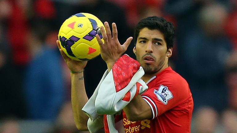 Luis Suarez: Was 25/1 to take the match ball home with him on Saturday