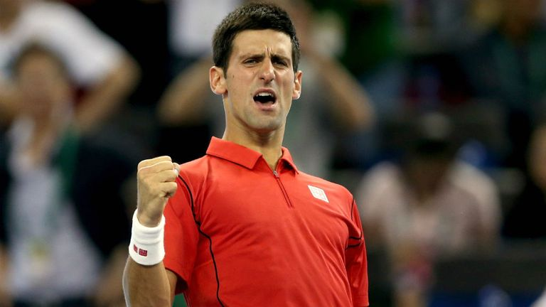 Novak Djokovic defeated Jo-Wilfried Tsonga in straight sets