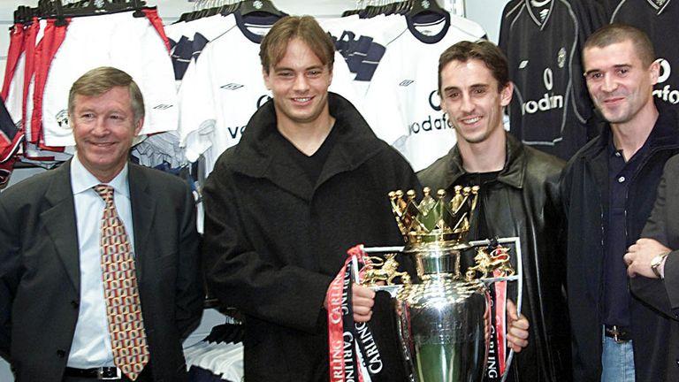 Sir Alex Ferguson and Mark Bosnich in happier times