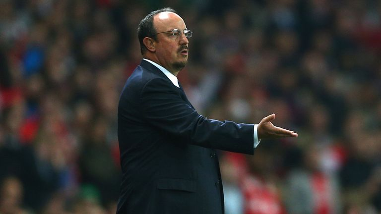 Rafa Benitez: Endured a disappointing night on his return to English soil