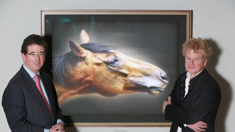 The portrait is unveiled. (Matt Alexander/PAWire)