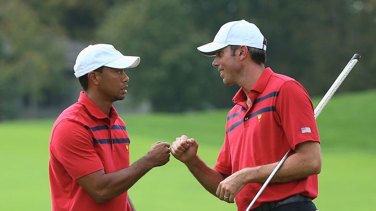 Woods and Kuchar: Made it three wins out of three by securing victory in Saturday's fourballs
