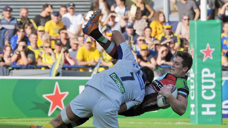 Action from last weekend's Heineken Cup match between Harlequins and Clermont