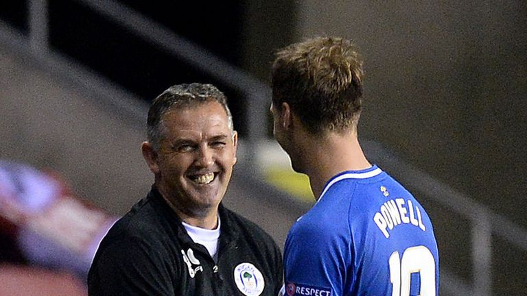 Owen Coyle (left): Pleased with his side's display in Europe