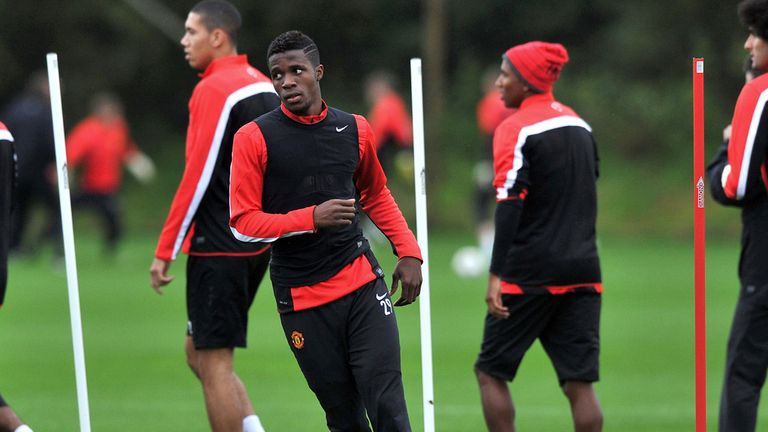 Wilfried Zaha: Manchester United winger could be allowed out on loan