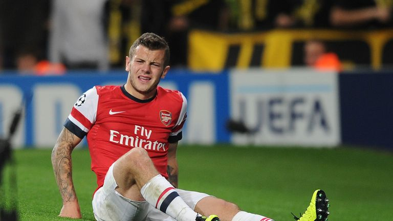 Jack Wilshere and Theo Walcott look unlikely to feature for Arsenal against Borussia Dortmund