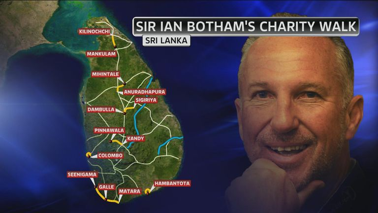 Sir Ian Botham has described this as his toughest challenge yet