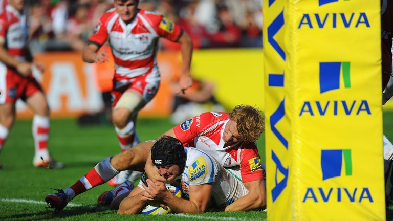 Dean Mumm: Scored the second of Exeter's two tries