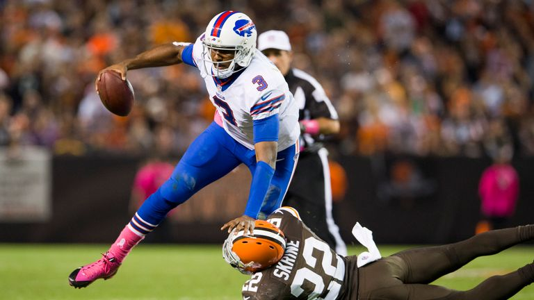 EJ Manuel: Sprained knee ligaments will keep him out for weeks
