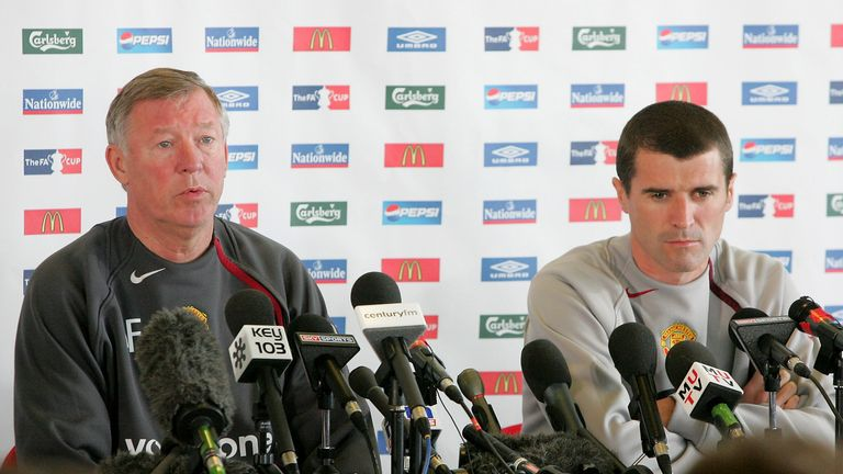 Roy Keane (right) accuses Sir Alex Ferguson of a lack of loyalty