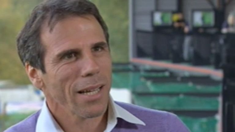 Gianfranco Zola: Opened up to Geoff Shreeves in an interview for Weekend Warm-Up