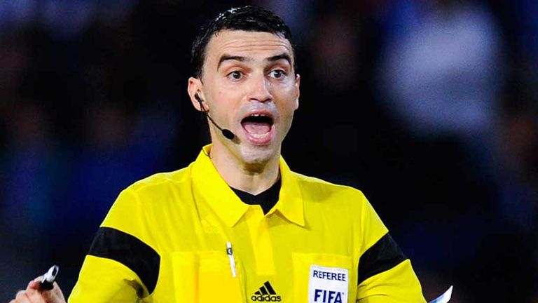 Romanian referee Ovidiu Hategan