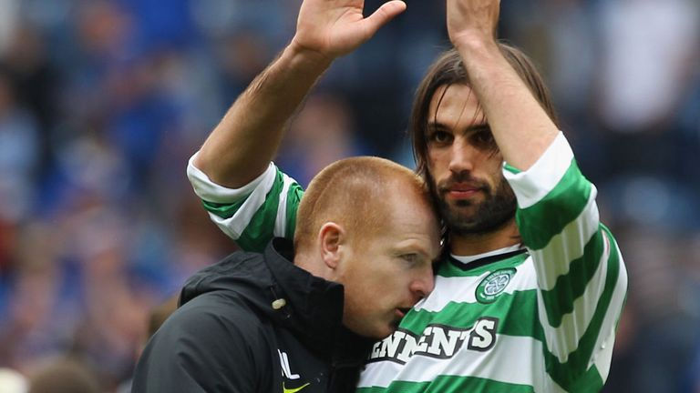 Neil Lennon (left): Ready to open talks with Georgios Samaras