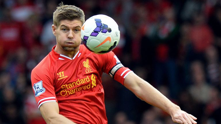 Steven Gerrard: Liverpool captain has helped his side to second in the Premier League table