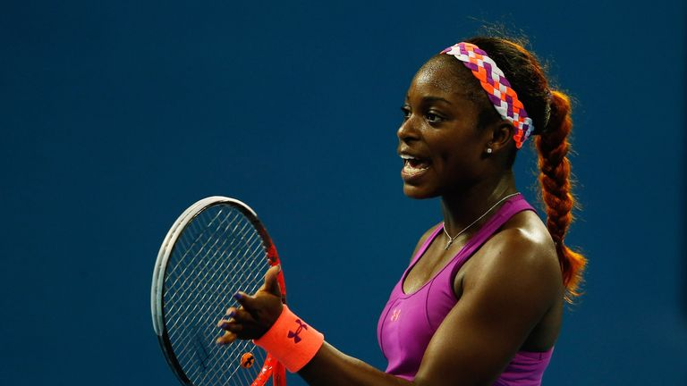 Sloane Stephens: American made to work hard during three-set win over Andrea Petkovic