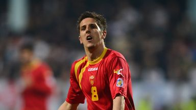 Manchester City forward Stevan Jovetic scored for Montenegro in their 2-1 defeat to Denmark