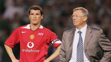 Roy Keane and Sir Alex Ferguson during their Manchester United days