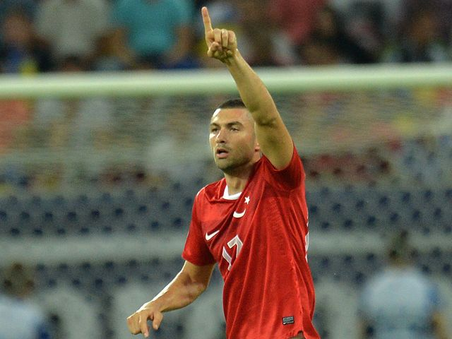 Burak Yilmaz: Was on the score sheet for Turkey