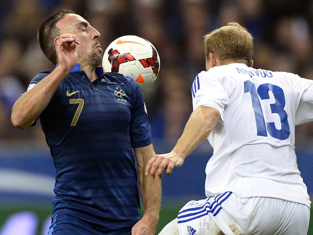 Franck Ribery in action for France