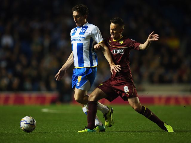 Keith Andrews fends off Josh McEachran