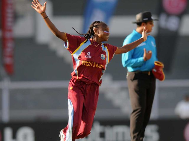 Shaquana Quintyne: Five wickets stunned England