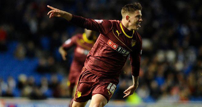 Sean Murray: Celebrates putting Watford ahead in the first half