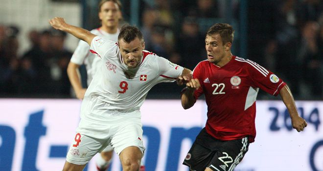 Haris Seferovic holds off Amir Abrashi