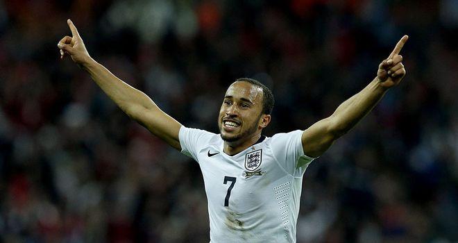 Andros Townsend celebrates his England goal