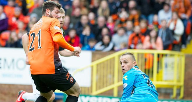 Nadir Ciftci: Dundee United striker scores the first goal in a 4-0 win over St Mirren