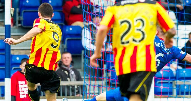 Kris Doolan: On target for Partick on Sunday afternoon