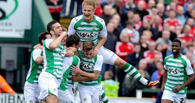 Ed Upson: At the double for Yeovil