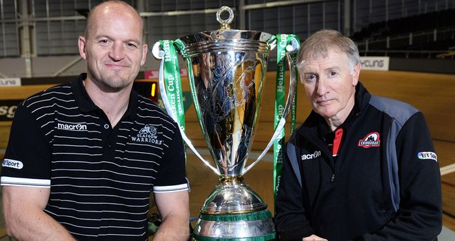 Gregor Townsend (left): Will hope his side can challenge for the Heineken Cup after their superb Pro12 start