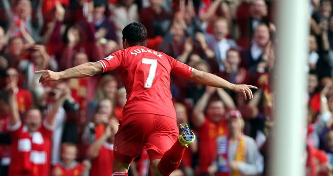 Luis Suarez: Gave Liverpool the lead against Palace