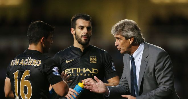 Manuel Pellegrini: Manchester City boss backs his strikers