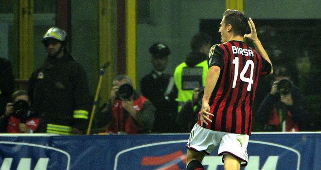 Valter Birsa celebrates his goal